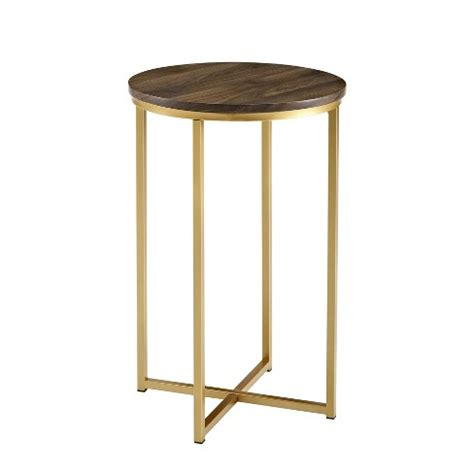 Target White And Gold Side Table