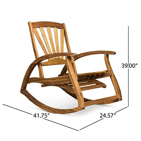 Teak Wood Rocking Chair With Footrest