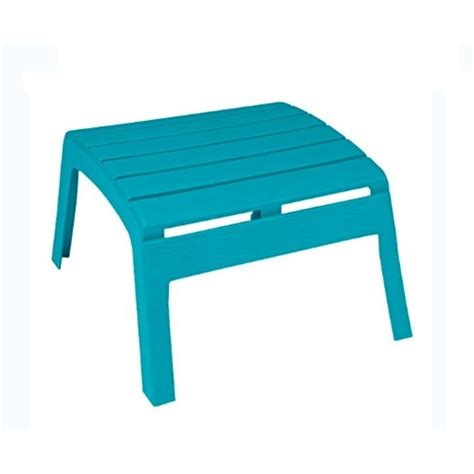 Teal-Adirondack-Chairs-With-Ottoman