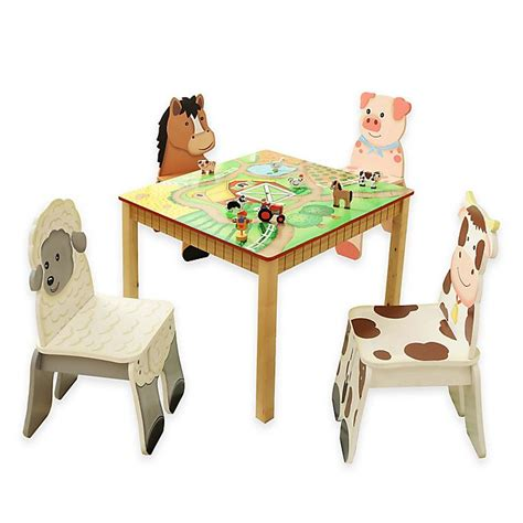 Teamson-Happy-Farm-Table-And-Chairs
