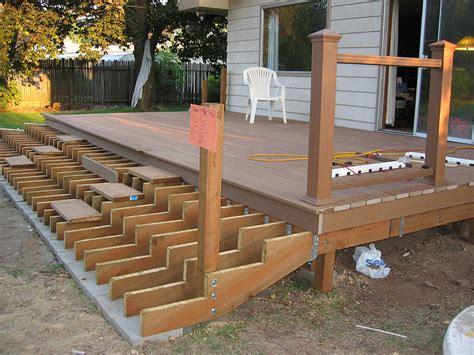 Tear Down Deck And Build Patio Stairs