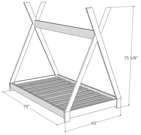 Teepee Bed Frame Diy Plans