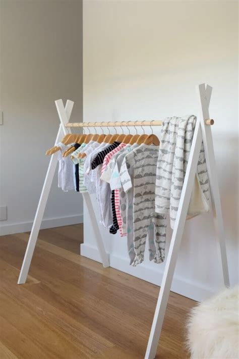 Teepee Clothes Rack Kids Diy Crafts