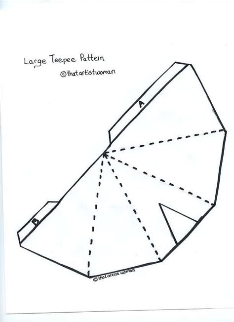 Teepee Pattern For Kids