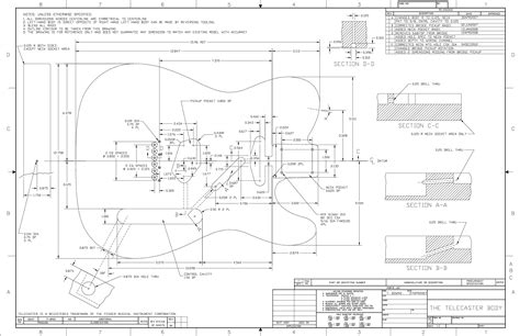 Terry Downs Telecaster Plans