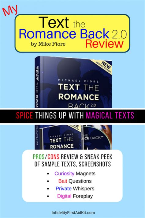 @ Text The Romance Back 2 0 Review Mike Fiore Full Of S .