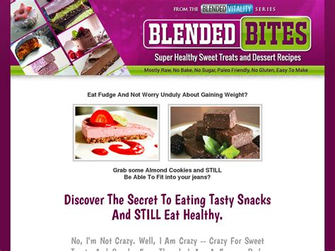 [pdf] The Blended Bites Healthy Snack And Dessert Recipe Collection.