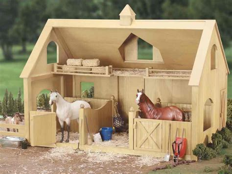 The Breezeway Barn Toy Stables That You Can Make Out Of Wood