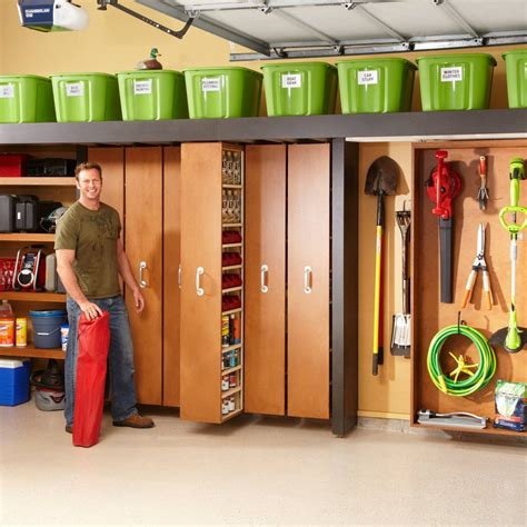 The Family Handyman Garage Storage Plywood Cabinets Stained