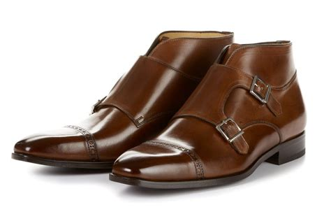 The Heston Double Monk Strap Boot - Marrone