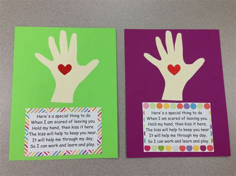 The Kissing Hand Art Projects For Preschoolers