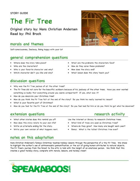 The Little Fir Tree Lesson Plans