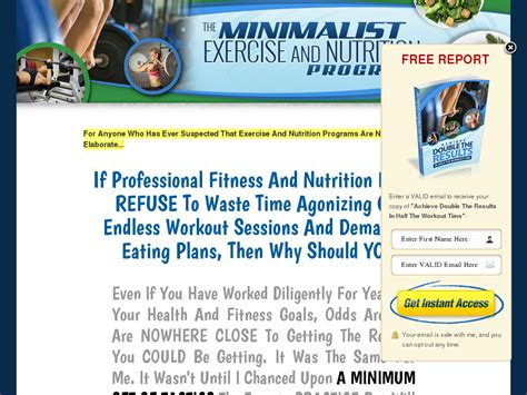 @ The Minimalist Exercise And Nutrition Program   Clickbank .