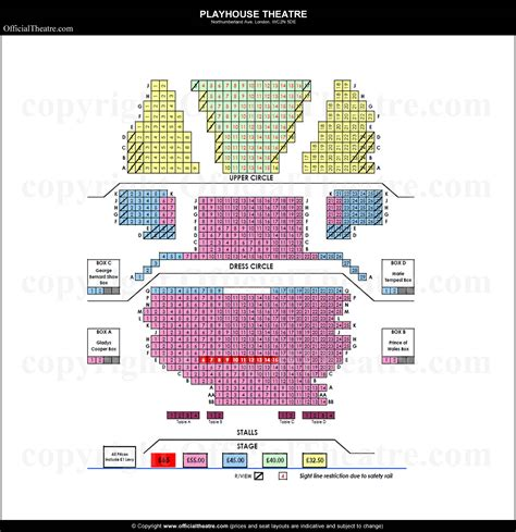 The Playhouse London Seating Plan