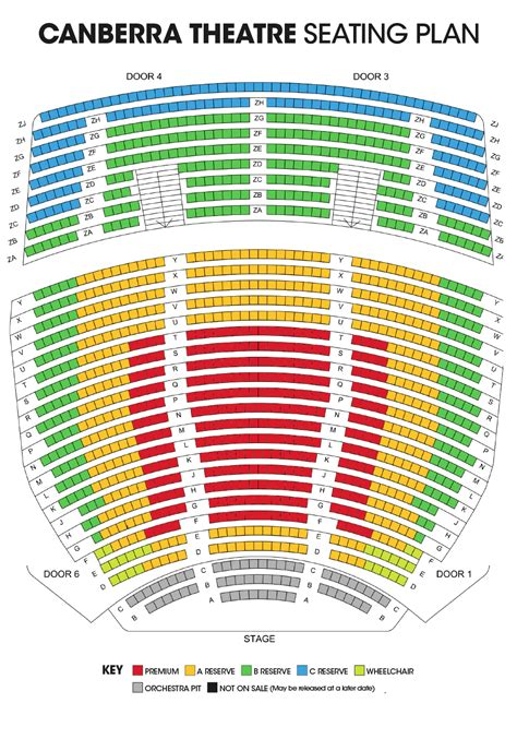 The Playhouse Seating Plan Canberra