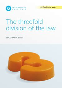 [pdf] The Threefold Division Of The Law - Christian Institute. -1