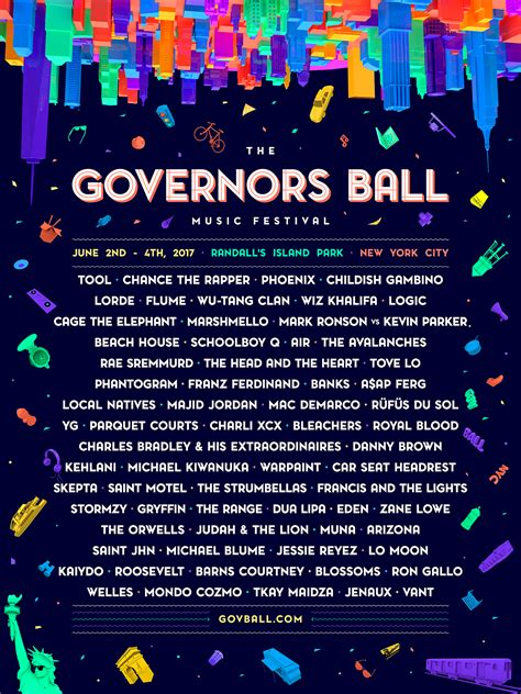 The Governors Ball Music Festival 2017 Lineup And Agenda Festival Lineup 2018