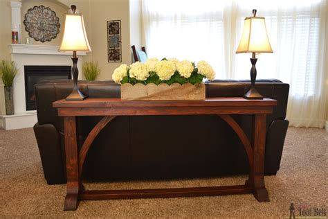 Thin Sofa Table Diy Plans