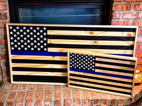 Thin-Blue-Line-Wood-Flag-Plans