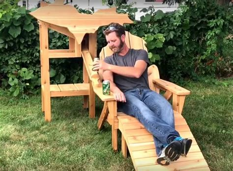 Thompson Woodworks Michigan Beer Chair