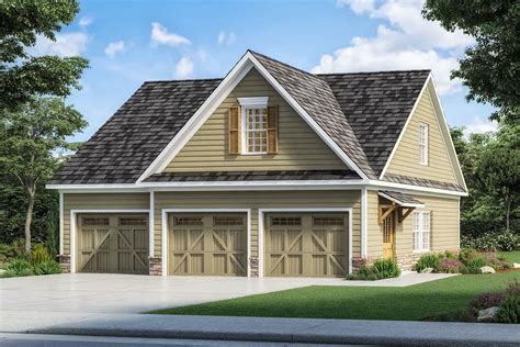 Three Stall Garage Plans