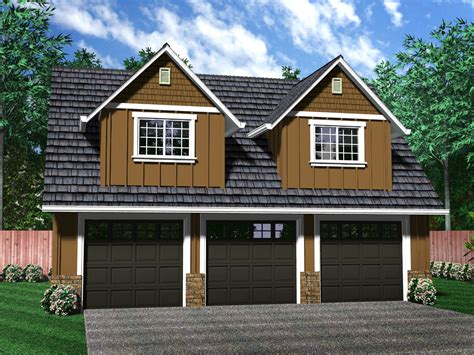 Three Stall Garage With Apartment Plans