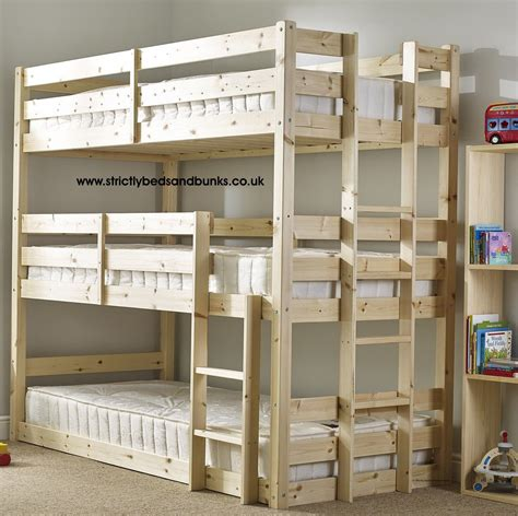 Three Tier Bunk Bed Plans
