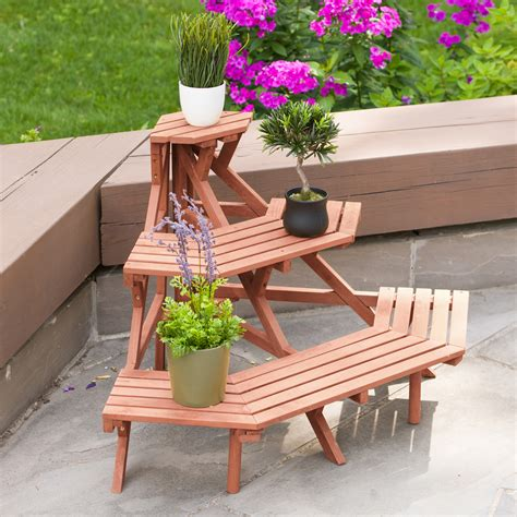 Three Tier Wooden Plant Stands