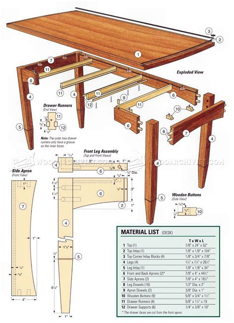 Three-Drawer-Desk-Plans