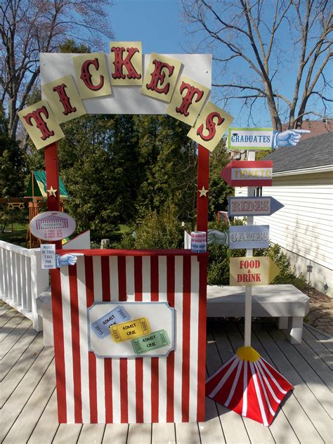 Ticket Booth Diy Carnival Ideas