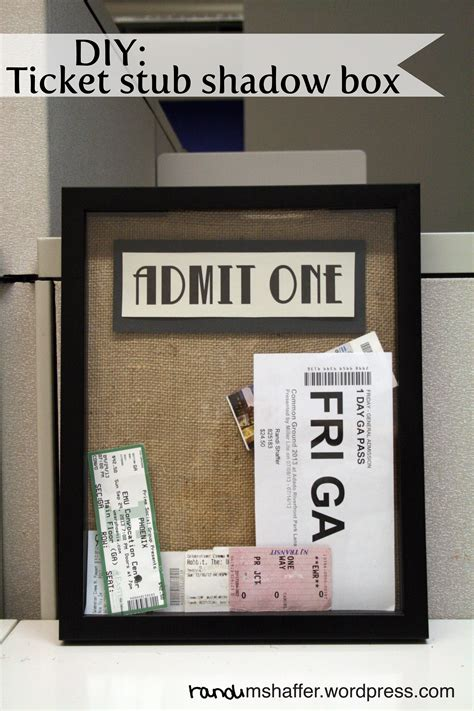 Ticket Stub Box Diy Gift