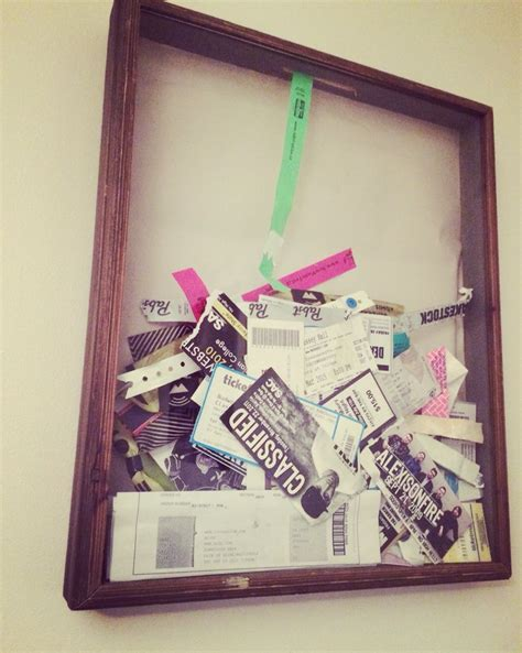 Ticket Stub Box Diys