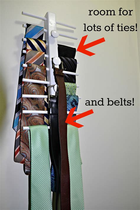 Tie And Belt Rack Diy Network