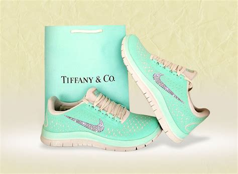 Tiffany Inspired Nike Sneakers