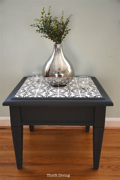Tile Side Table DIY