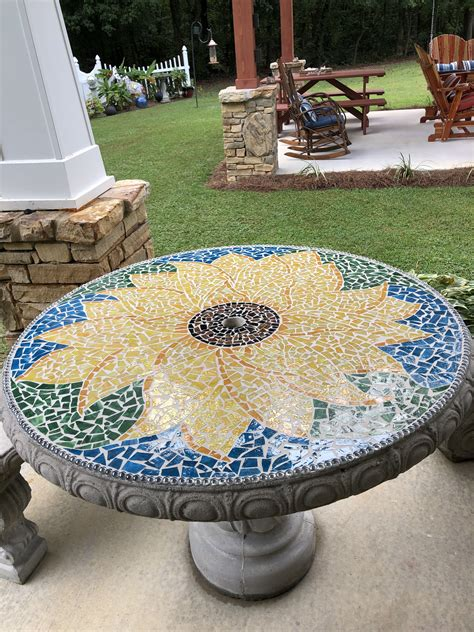 Tiled Outdoor Table Diy Paint