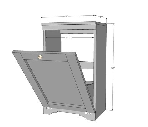 Tilt Trash Can Cabinet Plans