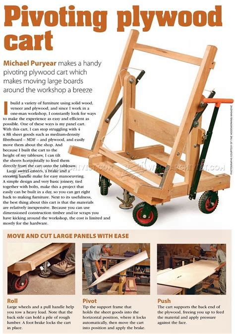 Tilting Plywood Cart Plans