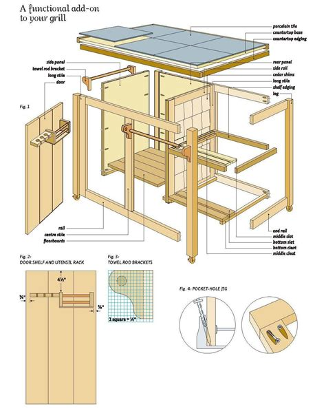 Timber Bbq Cabinet Plans