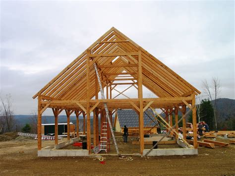 Timber Frame Shed Construction
