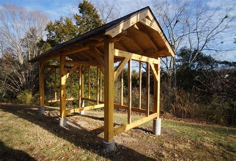 Timber Frame Wood Shed Plans 8x16