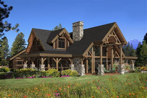 Timber Home Plans For View