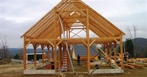 Timber frame barn plans free.aspx Image
