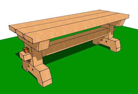 Timber-Frame-Bench-Plans