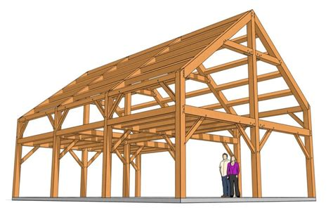 Timber-Frame-Cabin-Plans-Free