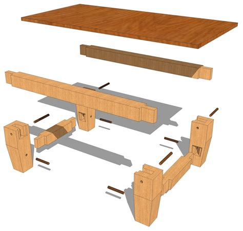 Timber-Frame-Coffee-Table-Plans