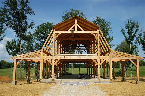 Timber-Frame-Gambrel-Barn-Plans