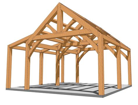 Timber-Frame-Small-Barn-Plans