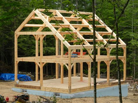 Timber-Frame-Woodshed-Plans