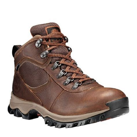 Timberland Men's Mt. Maddsen Mid Waterproof Hiking Boots & Knit Cap Bundle